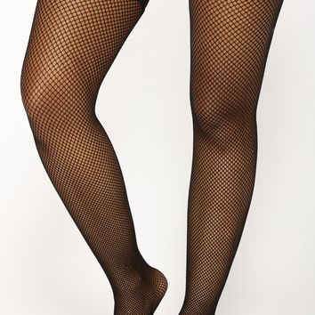 Lace Over It Thigh Highs - Black
