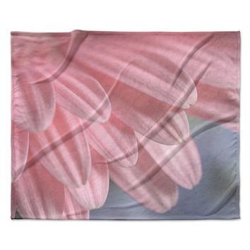 "Suzanne Harford ""Airy"" Floral Fleece Throw Blanket"