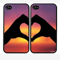 Double cases best friends forever iphone 4 case   by Pocketcase