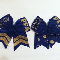 FFA Polka Dot Hair Bow Customized with your school name