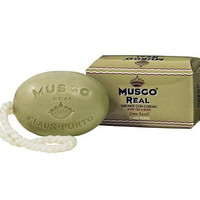 MUSGO REAL LIME BASIL SOAP ON A ROPE FOR MEN 6.7 OZ