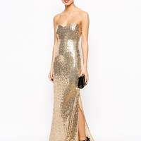 Lipstick Boutique Petite Strapless Sequin Maxi Dress