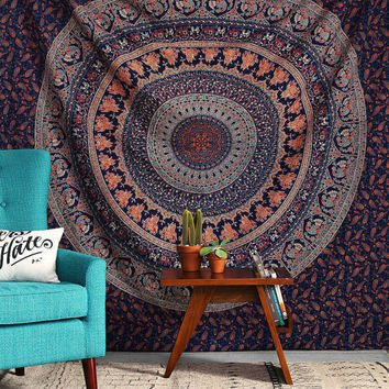 Twin Indian Mandala Tapestry Hippie Wall Hanging Bohemian Bedspread Dorm Decor Throw