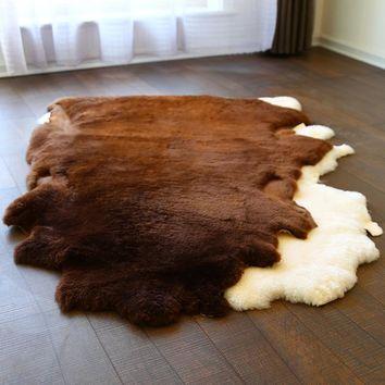 Autumn Fall welcome door mat doormat AOZUN australian sheared sheepskin rug short wool carpet for home decor floor cover cat sheep skin  big size sofa cover AT_76_7