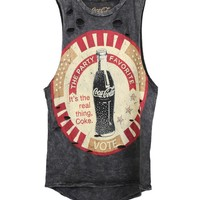 The Classic Brand Womens VOTE COCA COLA TANK TOP