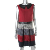 Muse Womens Wool Blend Sleeveless Wear to Work Dress