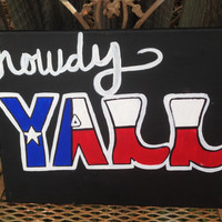 Howdy Y'all Canvas Painting
