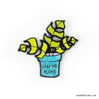 LEAF ME ALONE // ENAMEL PIN
