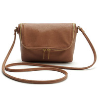 Brown Retro Crossbody Handbag