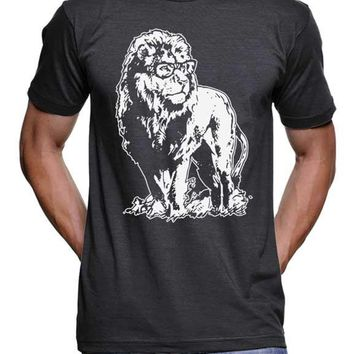 Lion Professor T Shirt Lion Tee Geeky Nerdy Teacher Gift Ideas Gifts For Him For Her Men Women Birthday Present Glasses Vintage Funny Tees