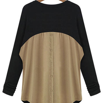 Long Sleeve Front Button Blouse