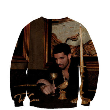 Drake Take Care Album cover crewneck sweatshirt All Over Style Print