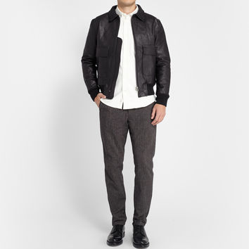 Officine Generale - Leather Flight Jacket | MR PORTER