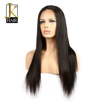 JK Hair Glueless Lace Front Human Hair Wigs For Black Women Brazilian Remy Hair Straight Wigs Natural Hairline With Baby Hair