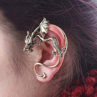 Dragon Fashion Statement Single Ear Cuff | LilyFair Jewelry