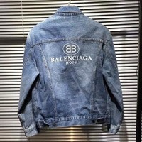 Balenciaga men and women couple jacket Jackets Class service Cowboy