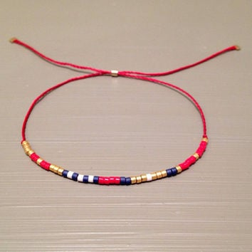 red string bracelet friendship bracelet silk red bracelet