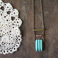Mayan Ruins Necklace - Turquoise