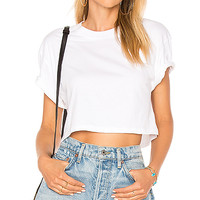 Hanes x Karla The Crop Tee in White | REVOLVE