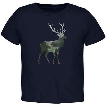 PEAPGQ9 Deer Forest Nature Hiking Hunting Toddler T Shirt