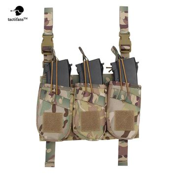 "Tactical Triple AK Magazine Pouch Outdoor Military Ammo Clip Bags Holder Pocket Dump Hunting Bag 10.5""x7""x6""inch"