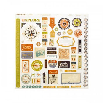 Sticker Sheet Travel Words And Icons (pack of 24)