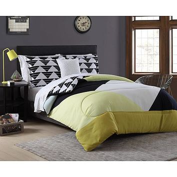 Essential Home Complete Bed Set - Pyramid Color Block