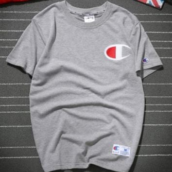 Champion short sleeved summer sweatshirt with loose collar