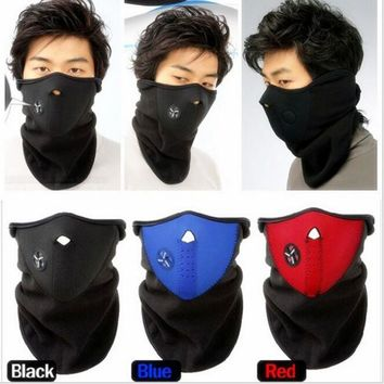 Winter Warm polar Fleece Half Face Mask Outdoor Bike Motorcycle Ski Hiking Snowboard Windproof Bibs mask