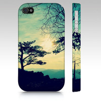 iPhone, iPod Touch, Samsung Galaxy S3 Fine Art Nature Photography cell phone, case, cover, sunset, blue, mountains, silhouette, artwork,