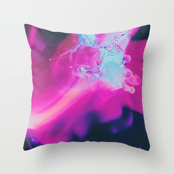 The moon was Ours Throw Pillow by duckyb