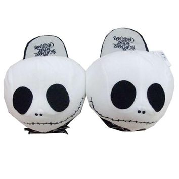 High quality Soft peluche Plush Slippers toy Cosplay Halloween Jack Skellington Nightmare Before Christmas Wacky Winter Shoes