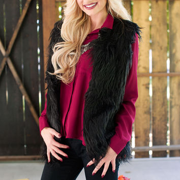 Evelyn Faux Fur Vest