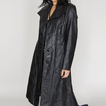 Because The Night Braided Leather Trench Coat