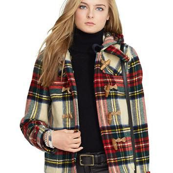 Polo Ralph Lauren Plaid Wool Duffel Coat