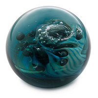 UNDER THE SEA PAPERWEIGHT | sea paperweight, blue ocean paperweight, glass paperweight, handmade paperweight | UncommonGoods