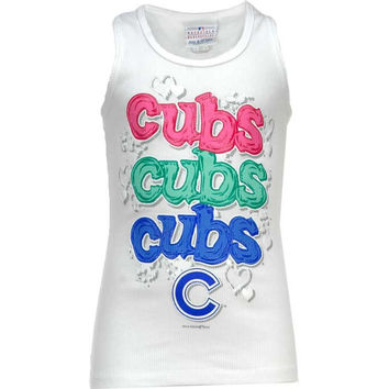 Chicago Cubs MLB Girls Tri-Blend Crewneck T-Shirt - http://www.anrdoezrs.net/click-7710548-11191294?url=http%3A%2F%2Fshop.neweracap.com%2FMLB%2FChicago-Cubs%2F20470753 / RoyalBlue / 100% Cotton, Knit