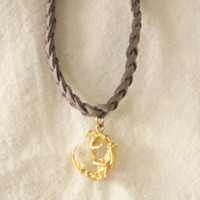 Moon Child Braided Charm Choker