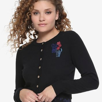 Disney Lilo & Stitch Tiki Flowers Crop Cardigan