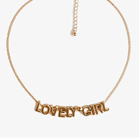 FOREVER 21 Lovely Girl Necklace Gold One