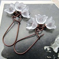 White flower earrings Affordable Wedding jewelry