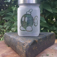 Ba Bomb Etched Glass Stash Jar - Super Mario Brothers inspired Gamer Birthday Gift - 420 Gifts - Gifts for Him