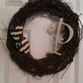 SALE Patriotic Love Family Wreath