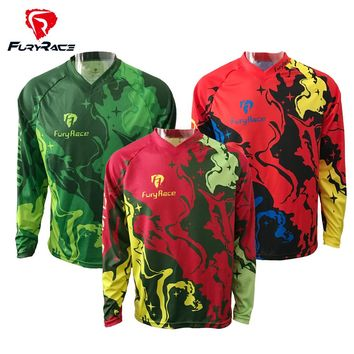 2017 New design 23colors  MTB Downhill Jerseys Men100% Polyester Motocross Motorcycle T-Shirt Bike Bicycle Jersey Cycling Roupa
