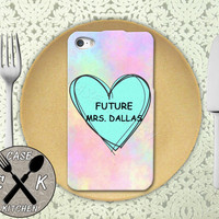 Future Mrs. Dallas Pastel Pink Tumblr Candy Heart Cute Custom Rubber Tough Phone Case For The iPhone 4 and 4s and iPhone 5 and 5s and 5c