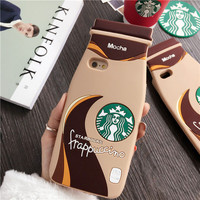 Hot Delicous Coffee Milk Bottle Cup Phone Case Cover For iPhone 5 5S 6 6S 4.7 6plus 5.5 Inch