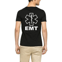 Loo Show Emergency Medical Technician EMT 80s Awesome Crew T-Shirt Men Casual Tee