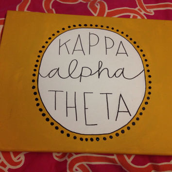 Kappa alpha theta canvas (other sororities available)