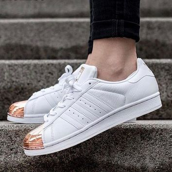huge selection of 778c0 38020 Adidas Superstar (Shelltoes) Rose Gold Women Sneakers Casual Spo