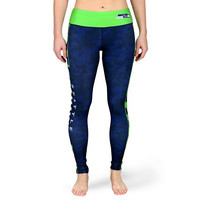 Seattle Seahawks Official NFL Stripe Leggings